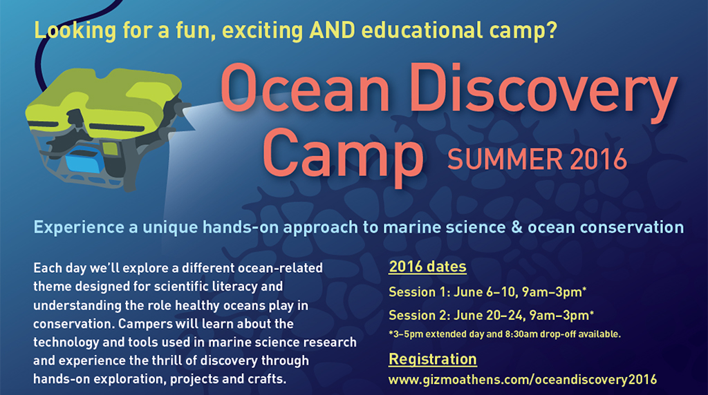 ECOGIG announces new Ocean Discovery Camp for summer 2016