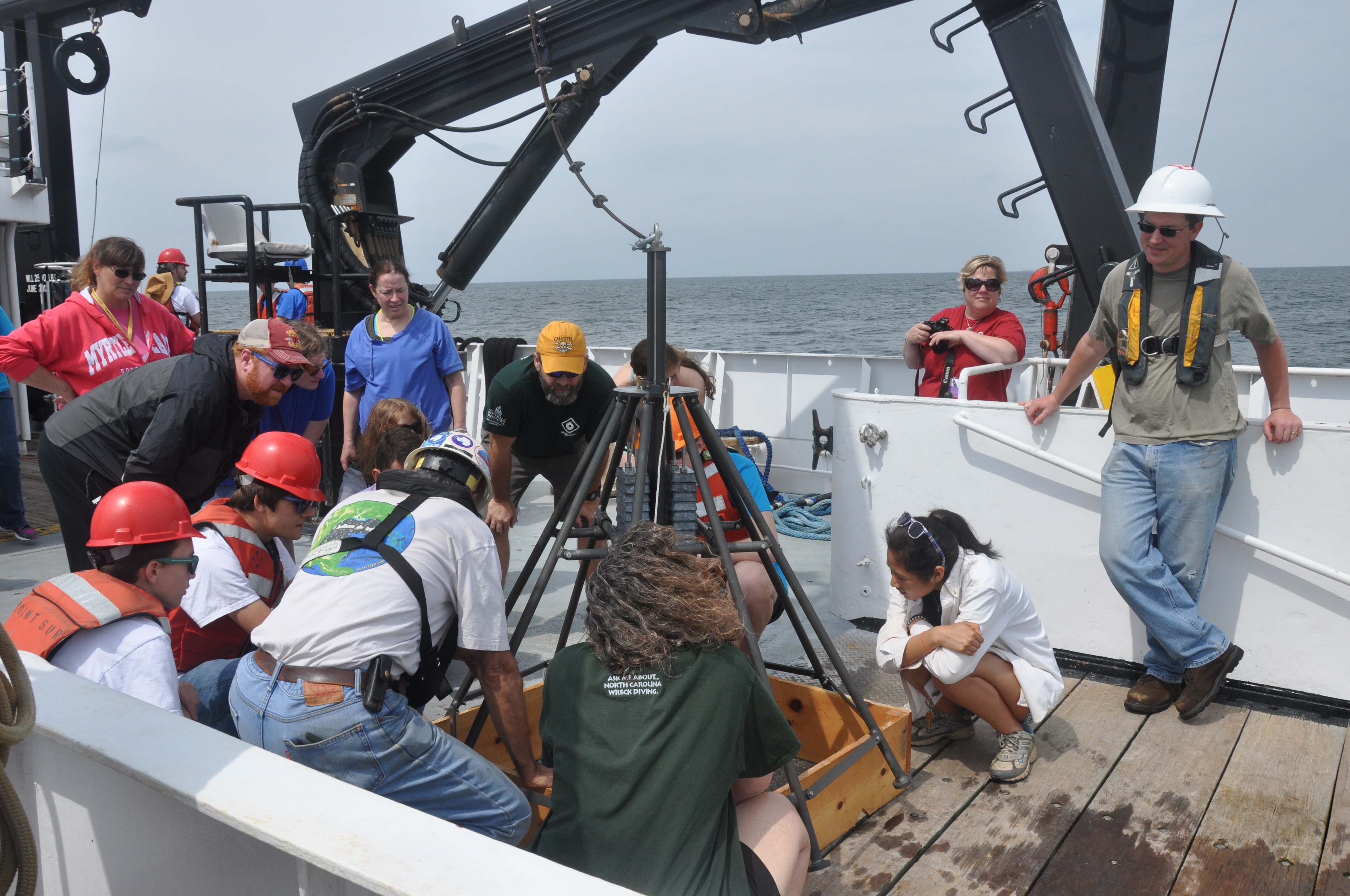 <div style='color:#000000;'><br /><br /><h2>National Ocean Science Bowl 2015- Finalists got a treat at the end of the April 2015 competition held in Ocean Springs, MS. Dr. Vernon Asper (ECOGIG) hosted the finalists for an afternoon aboard the research vessel Point Sur.  </h2>Photo courtesy of Dr. Vernon Asper (ECOGIG)</div>
