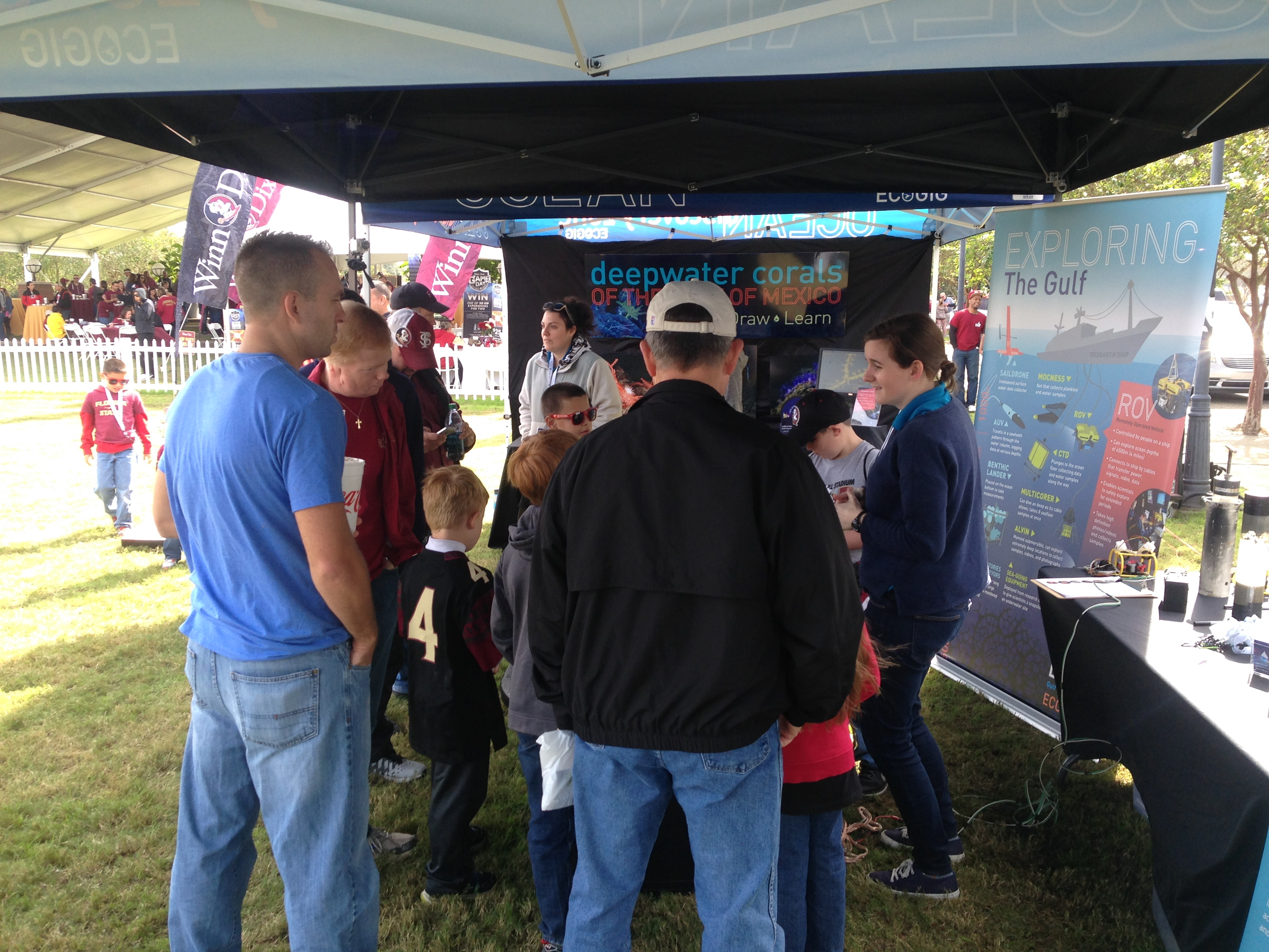<div style='color:#000000;'><br /><br /><h2>Florida State University 2015 homecoming tailgate- We enjoyed all the visitors who stopped by the Ocean Discovery Zone- our ROV tank was a hit!</h2>(C)&nbsp;ECOGIG</div>