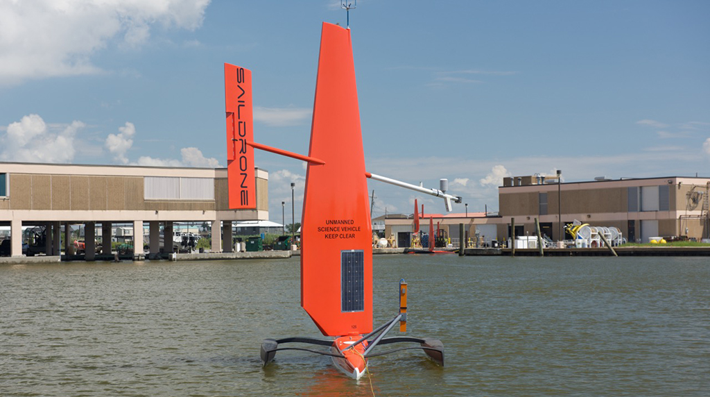 <div style='color:#000000;'><br /><br /><h2>Saildrone- These can carry a suite of science-grade instruments that focus on air & sea interactions, surface fluxes, carbon measurements and bio-mass studies. Saildrones are deployed from a dock, transit to and from the study area autonomously without needing any ship time. They can spend 6 - 12 months at sea, with all data streamed live via satellite.</h2>Photo courtesy of Richard&nbsp;Jenkins</div>